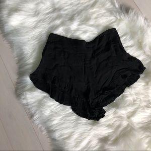 Black flowing shorts